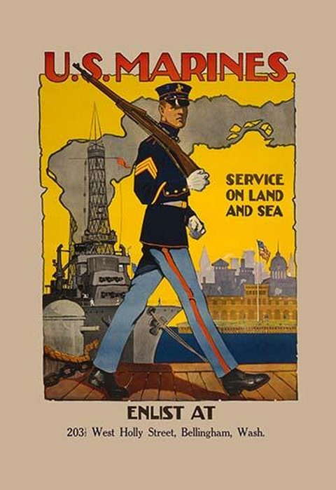 Active Service on Land and Sea by Sidney H. Riesenberg - Art Print