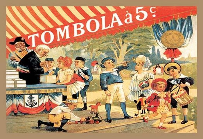 Tombola by Theophile Alexandre Steinlen - Art Print