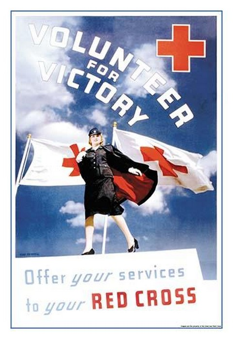 Volunteer for Victory: Offer Your Services to Your Red Cross by Toni Frissell - Art Print