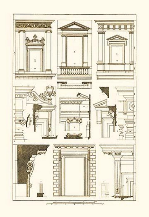 Windows of Palazzo Non Finito, Palace and House at Rome by J. Buhlmann - Art Print
