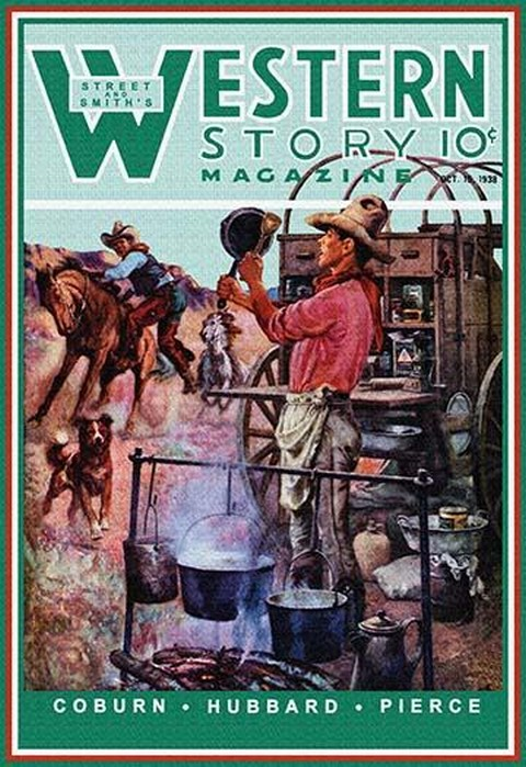 Western Story Magazine: Supper Time by Walter Kaskell Kinton - Art Print