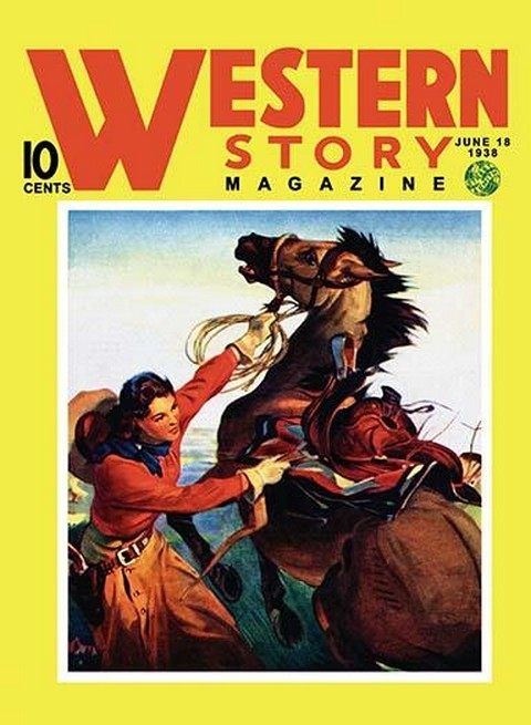 Western Story Magazine: She Ruled the West - Art Print