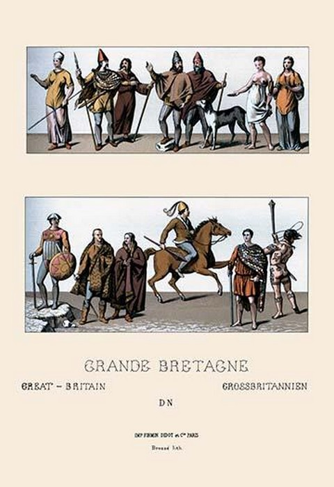 Tribes of Great Britain by Auguste Racinet - Art Print