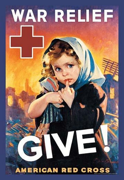 War Relief, Give! by F. Sands Brunner - Art Print