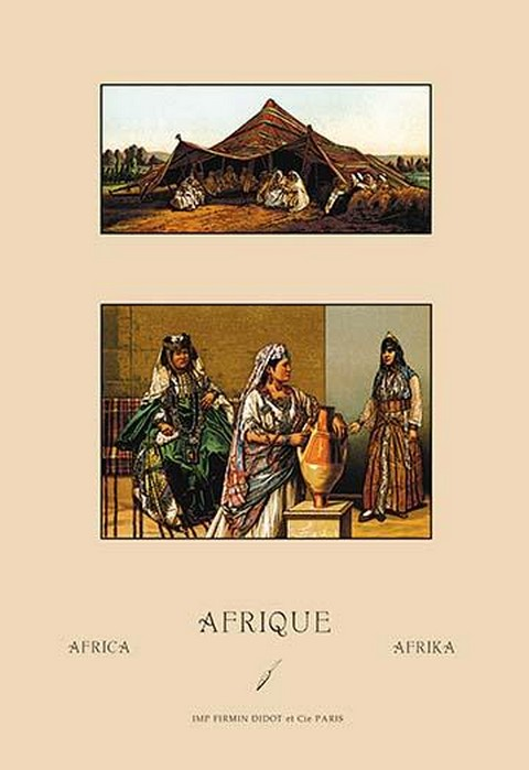 Traditional Bedouin Costume by Auguste Racinet - Art Print