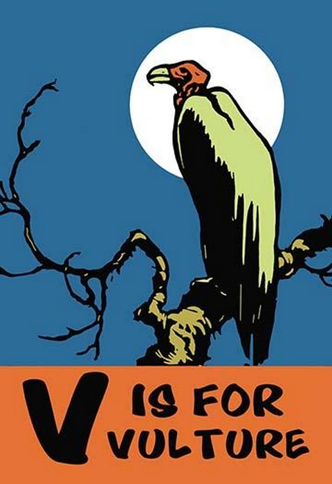 V is for Vulture by Charles Buckles Falls - Art Print