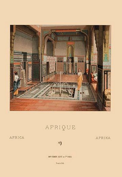 A Middle Eastern Interior by Auguste Racinet - Art Print