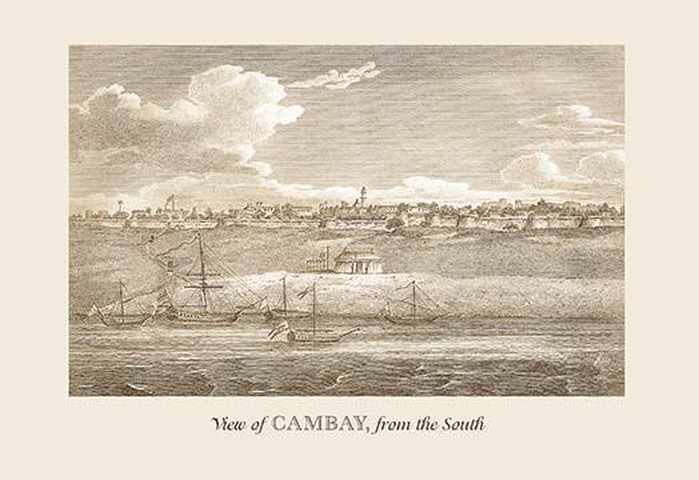 View of Cambay by Baron de Montalemert - Art Print