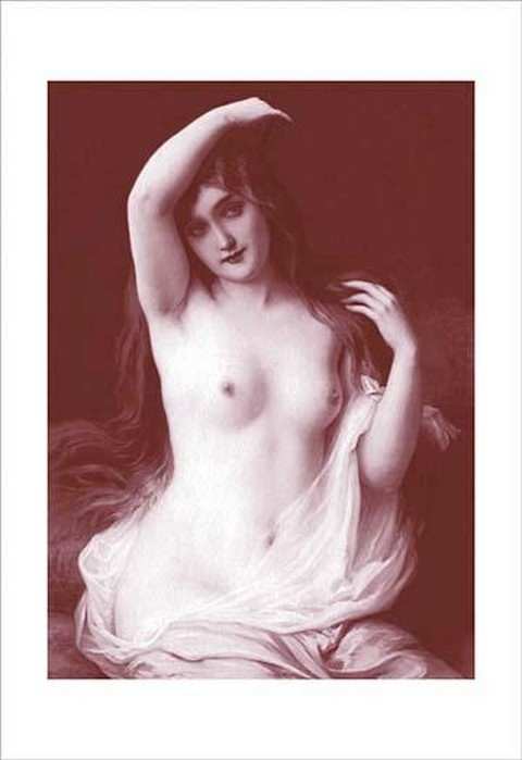 A Long-Haired Nude - Art Print