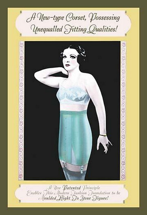 A New-Type Corset Possessing Unequalled Fitting Qualities - Art Print