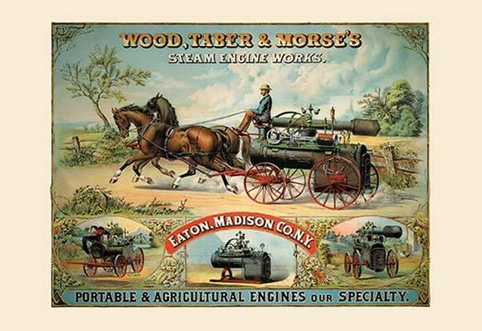 Wood, Taber and Morse's Steam Engine Works - Art Print
