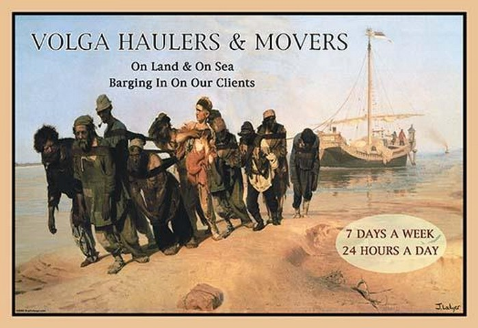 Volga Haulers & Movers by Wilbur Pierce - Art Print