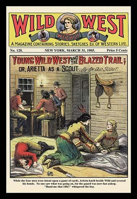 Wild West Weekly: Young Wild West and the Blazed Trail - Art Print