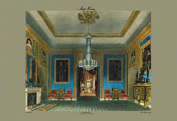 Ante Room - Carlton House (Looking North) by C. Wild - Art Print