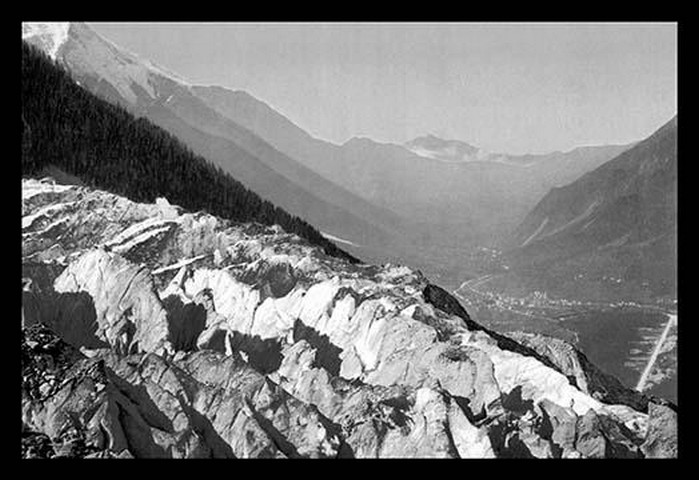Valley of Chamonix and the Ner de Glace by Detroit Photographic Company - Art Print