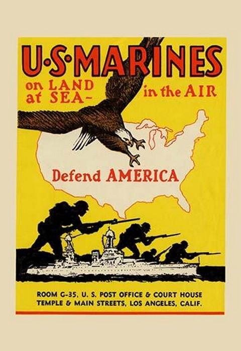U.S. Marines Defend America - Art Print