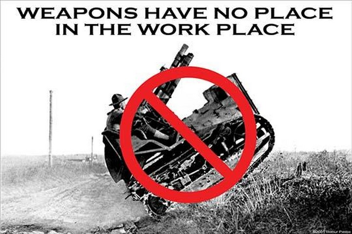 Weapons have no place by Wilbur Pierce - Art Print