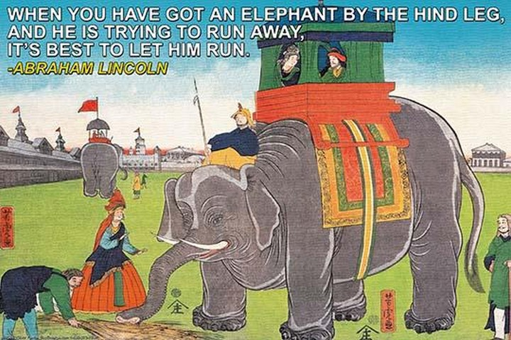 When you have got an elephant by Wilbur Pierce - Art Print