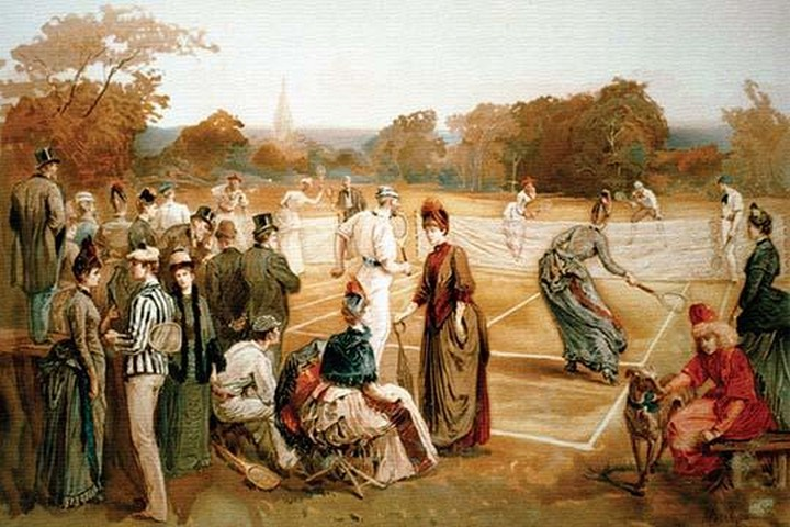 Victorian Tennis Match - Art Print