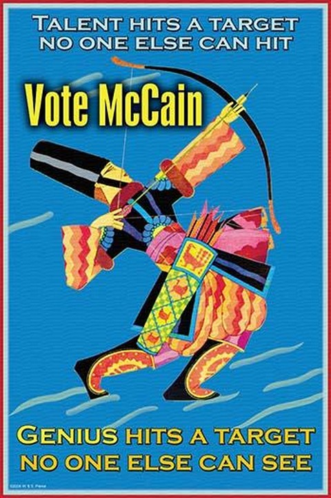 Vote for McCain by Wilbur Pierce - Art Print