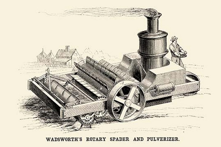 Wadsworth's Rotary Spader and Pulverizer - Art Print
