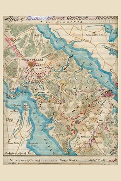 Williamsburg or Peninsular Campaign - Art Print