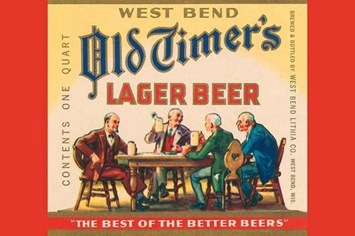 West Bend Old Timer's Lager Beer - Art Print