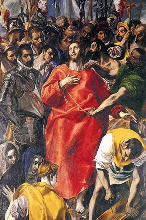 Undressing Christ by El Greco - Art Print
