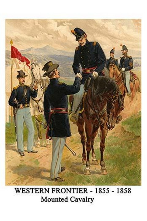 Western Frontier - 1855 - 1858 - Mounted Cavalry By Henry Alexander Ogden - Art Print
