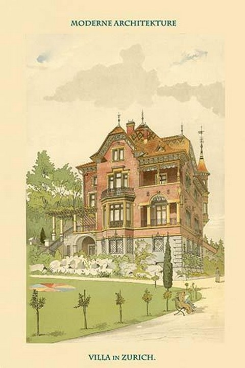 Villa in Zurich, Switzerland by Bluntschli #5 - Art Print