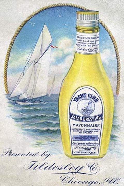Yacht Club Salad Dressing Mayonnaise - Art Print
