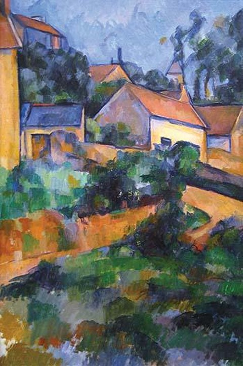 Turning Road at Montgeroult by Paul Cezanne - Art Print
