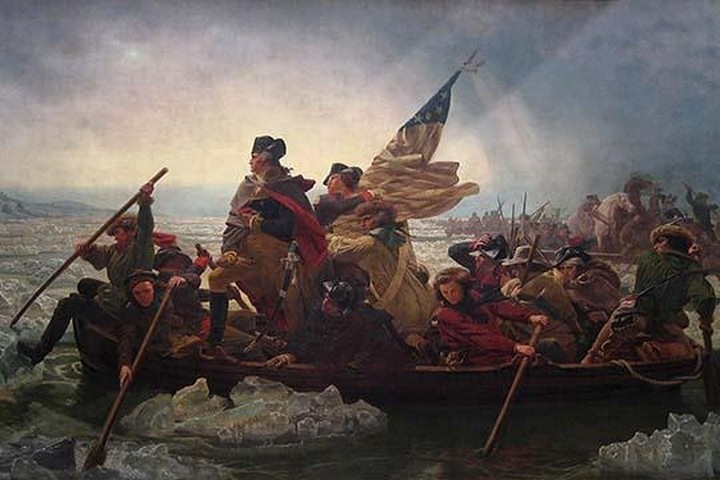 Washington Crossing the Delaware by Emanuel Leutze - Art Print
