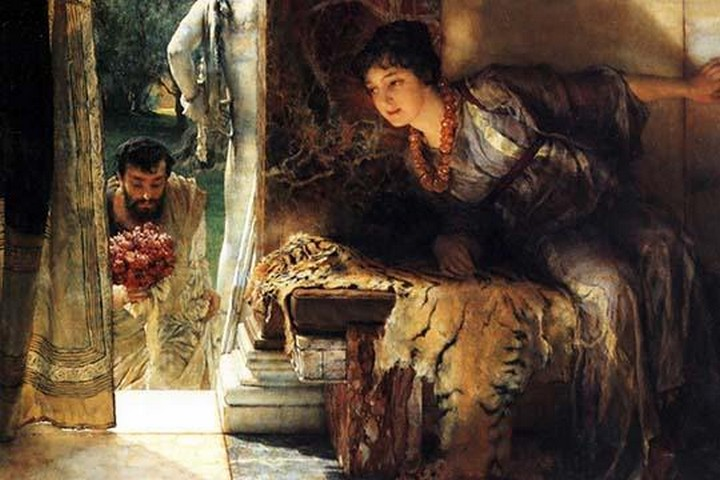 Welcome Footsteps by Sir Lawrence Alma-Tadema - Art Print