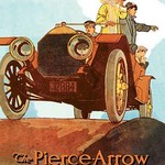 Sightseeing from the Pierce-Arrow - Art Print