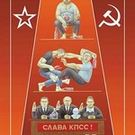 1 Russian (Drunk) 2 (Fight) 3 (Revolution) by Dimitri Deeva - Art Print