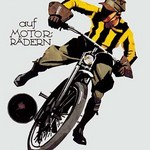 Soccer on Motorcycle - Art Print