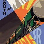 South for Winter Sunshine - Southern Railroad - Art Print