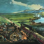Trains Opening the Great American Plains - Art Print