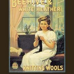 Beehive and White Heather Knitting Tools - Art Print