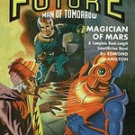Captain Future Fires at the Magician of Mars - Art Print