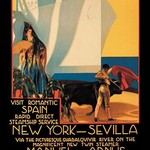 Visit Romantic Spain: Rapid Direct Steamship Service from New York to Sevilla - Art Print