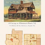 A Cottage at Monmouth Beach, New Jersey - Art Print