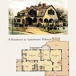 A Residence at Larchmont Manor - Art Print