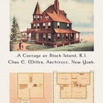 A Cottage at Block Island, Rhode Island - Art Print