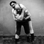 Wrestling Hold from Behind - Art Print