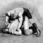 Wrist Roll: Russian Wrestlers - Art Print