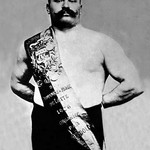 Bodybuilder Wearing Bandolier of Victory - Art Print