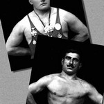 Two Bodybuilding Champions - Art Print