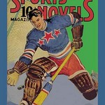 Three Star Goalie Lunges for Puck - Art Print
